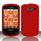 Hard Plastic 2 Piece Snap On Rubberized Case for Samsung Brightside U380 - Red