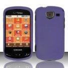 Hard Plastic 2 Piece Snap On Rubberized Case for Samsung Brightside U380 - Purple