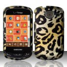 Hard Plastic Snap On Rubberized Design Case for Samsung Brightside U380 - Golden Cheetah