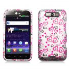 Hard Plastic Rubberized Design Case for LG Connect 4G (MetroPCS)/Viper 4G (Sprint) - Loving You
