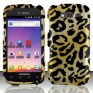 Hard Plastic Snap On Rubberized Design Case for Samsung Galaxy S Blaze 4G - Golden Cheetah