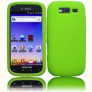 Hard Plastic Snap On Rubberized Cover Case for Samsung Galaxy S Blaze 4G - Neon Green