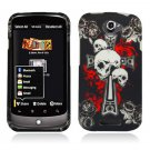 Hard Plastic Rubberized Snap On Design Case for HTC One S/Ville (T-Mobile) - Skulls & Dagger