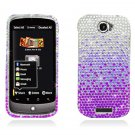 Hard Plastic Bling Diamond Snap On Cover Case for HTC One S/Ville (T-Mobile) - Purple Waterfall