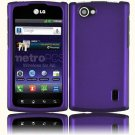 Hard Plastic Rubberized Snap On Cover Case for LG Optimus M Plus - Purple