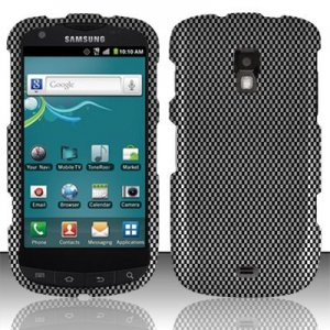 Hard Plastic Snap On Rubberized Design Case for Samsung Galaxy S Aviator - Carbon Fiber