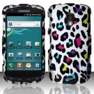Hard Plastic Snap On Rubberized Design Case for Samsung Galaxy S Aviator - Rainbow Leopard