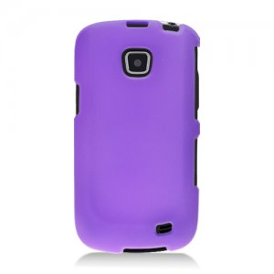 Hard Plastic Snap On Rubberized Case Cover for Samsung illusion i110 (Verizon) - Purple