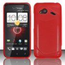 Soft TPU Gel with Matte Finish Skin Case Cover for HTC Droid Incredible 4G (Verizon) - Red