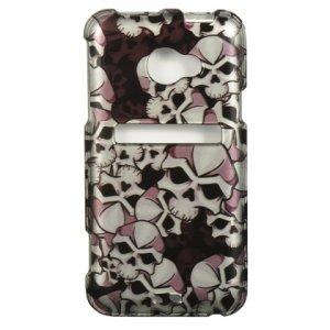 Hard Plastic Snap On Design Cover Case for HTC Evo 4G LTE (Sprint) - Black Skulls