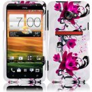 Hard Plastic Snap On Design Cover Case for HTC Evo 4G LTE (Sprint) - Purple Lily