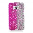 Hard Plastic Bling Design Case for LG Optimus Elite (Sprint/Virgin Mobile) – Silver & Pink