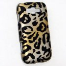 Hard Plastic Rubberized Snap On Design Case for Samsung Focus 2 i667 (AT&T) - Golden Cheetah