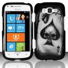 Hard Plastic Rubberized Snap On Design Case for Samsung Focus 2 i667 (AT&T) - Ace of Spade Skull