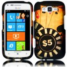 Hard Plastic Rubberized Snap On Design Case for Samsung Focus 2 i667 (AT&T) - Ace Poker