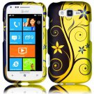 Hard Plastic Rubberized Snap On Design Case for Samsung Focus 2 i667 (AT&T) - Royal Swirl