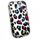 Hard Plastic Rubberized Snap On Design Case for Samsung Galaxy Appeal i827 (AT&T) - Rainbow Leopard