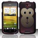 Hard Plastic Rubberized Snap On Design Case for HTC One S/Ville (T-Mobile) - Monkey Face