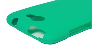 Hard Plastic 2-Piece Rubberized Snap On Cover Case for HTC One X/Elite (AT&T) - Turquoise
