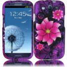 Hard Plastic Rubberized Design Case Cover for Samsung Galaxy S3 III – Divine Flowers