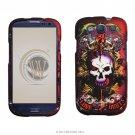 Hard Plastic Rubberized Design Case Cover for Samsung Galaxy S3 III – Skull & Lion