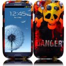 Hard Plastic Rubberized Design Case Cover for Samsung Galaxy S3 III – Danger Skull