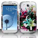 Hard Plastic Rubberized Design Case Cover for Samsung Galaxy S3 III – Lily Flowers