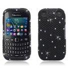 Black Diamond Hard Plastic Bling Design Case for BlackBerry Curve 9310/9320 (Verizon/Boost Mobile)