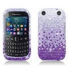 Purple Waterfall Hard Plastic Bling Design Case BlackBerry Curve 9310/9320 (Verizon/Boost Mobile)