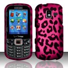 Hot Pink Leopard Hard Plastic Rubberized Design Case for Samsung Intensity III SCH U485 (Verizon)