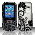 Black Vines Hard Plastic Rubberized Design Case for Samsung Intensity III SCH U485 (Verizon)
