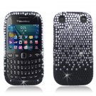 Black Waterfall Hard Plastic Bling Design Case BlackBerry Curve 9310/9320 (Verizon/Boost Mobile)