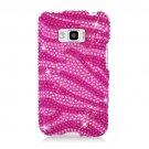 Hard Plastic Bling Design Case for LG Optimus Elite (Sprint/Virgin Mobile) – Hot Pink Zebra