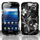 Hard Plastic Rubberized Snap On Design Case for Samsung Exhilarate i577 (AT&T) - Midnight Garden