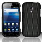 Hard Plastic Rubberized Snap On Design Case for Samsung Exhilarate i577 (AT&T) - Carbon Fiber