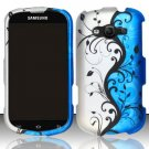 Hard Plastic Rubberized Snap On Case for Samsung Galaxy Reverb M950 (Sprint/Virgin) - Blue Vines
