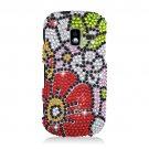 Hard Plastic Bling Design Case for Samsung Intensity 3 III SCH U485 (Verizon) - Fall Flowers
