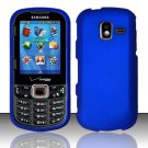 Hard Plastic Rubberized Snap On Case for Samsung Intensity 3 III SCH U485 (Verizon) - Blue