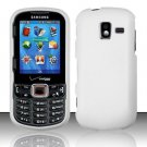 Hard Plastic Rubberized Snap On Case for Samsung Intensity 3 III SCH U485 (Verizon) - White