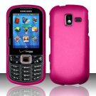 Hard Plastic Rubberized Snap On Case for Samsung Intensity 3 III SCH U485 (Verizon) - Hot Pink