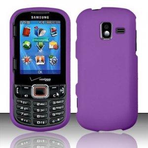 Hard Plastic Rubberized Snap On Case for Samsung Intensity 3 III SCH U485 (Verizon) - Purple