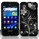 Hard Plastic Rubber Feel Design Case for Samsung Captivate Glide 4G - Midnight Garden
