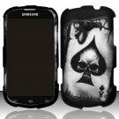 Hard Plastic Rubberized Snap On Case Samsung Galaxy Reverb M950 (Sprint/Virgin) - Ace of Spade Skull
