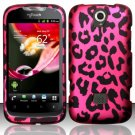 Hard Plastic Rubberized Snap On Case Cover Huawei myTouch Q U8730 (T-Mobile) – Hot Pink Leopard