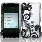 Hard Plastic Rubberized Snap On Case Cover for LG Mach LS860 (Sprint/Boost Mobile) – Black Vines