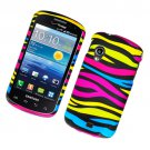 Hard Plastic Rubber Feel Design Case for Samsung Stratosphere i405 - Abstract Zebra