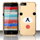 New Hard Plastic Rubberized Snap On Case Cover for Apple iPhone 5 – Puppy Face