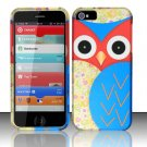New Hard Plastic Rubberized Snap On Case Cover for Apple iPhone 5 – Starry Blue Owl