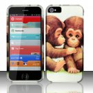 New Hard Plastic Rubberized Snap On Case Cover for Apple iPhone 5 – Cute Monkey Love