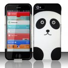 New Hard Plastic Rubberized Snap On Case Cover for Apple iPhone 5 – Cute Panda Bear